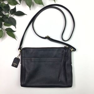 Fossil Bags - Fossil Pebbled Black Leather Thin Crossbody Purse